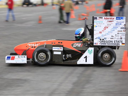 IRC provided waterjet cutting for OSU baja and formula cars