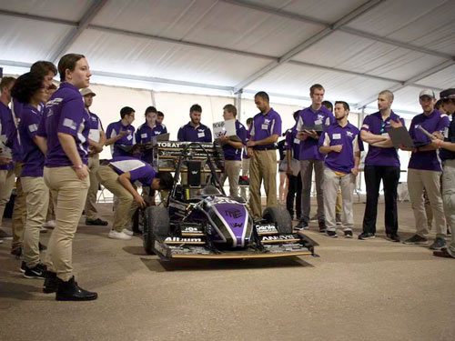 IRC provided waterjet cutting for UW baja and formula cars