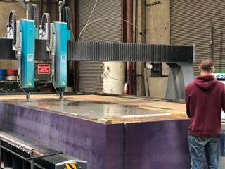 Giant Waterjet Northwest Waterjet Cutting Machine