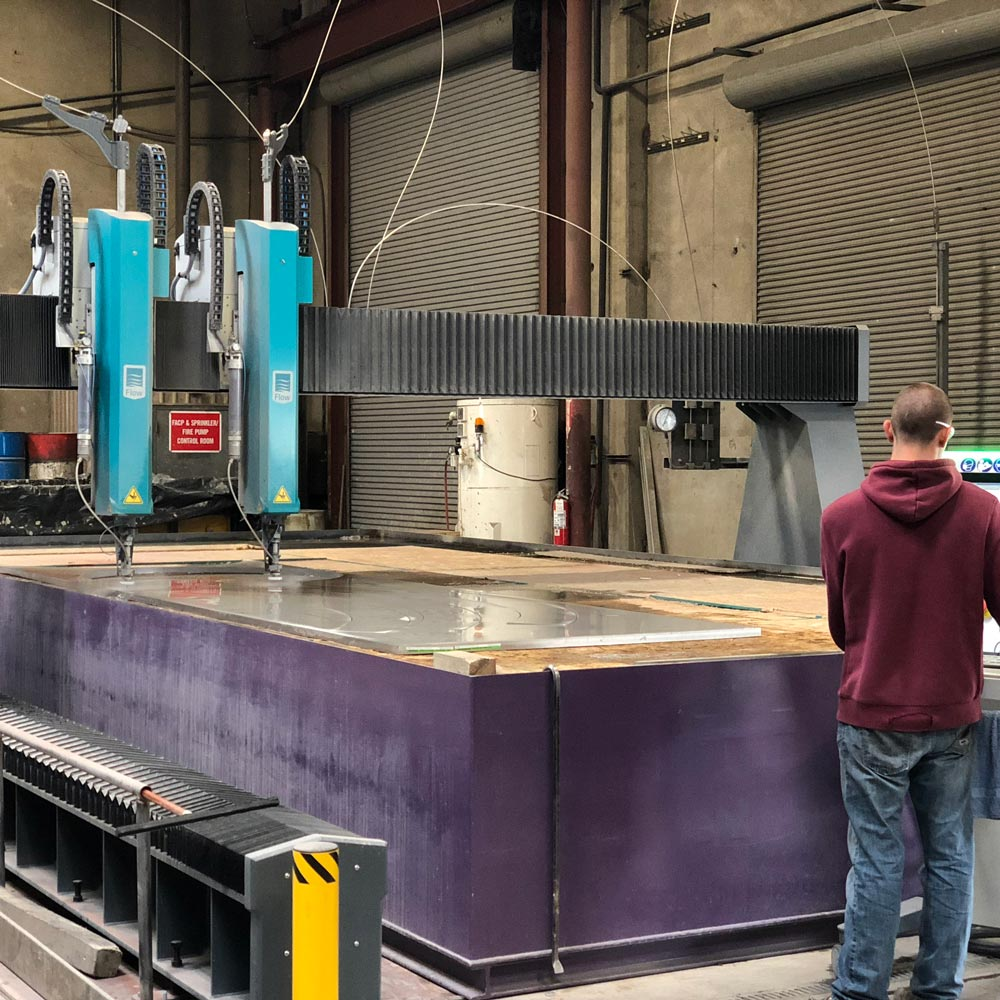 Giant Waterjet Northwest Waterjet-Cutting Machine