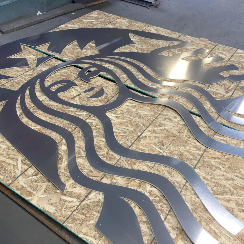 Aluminum Signage for Starbucks