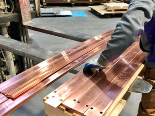 Waterjet-Cut Copper Bus Bars