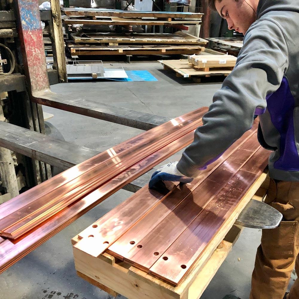 Copper Bus Bars Cut On Waterjet