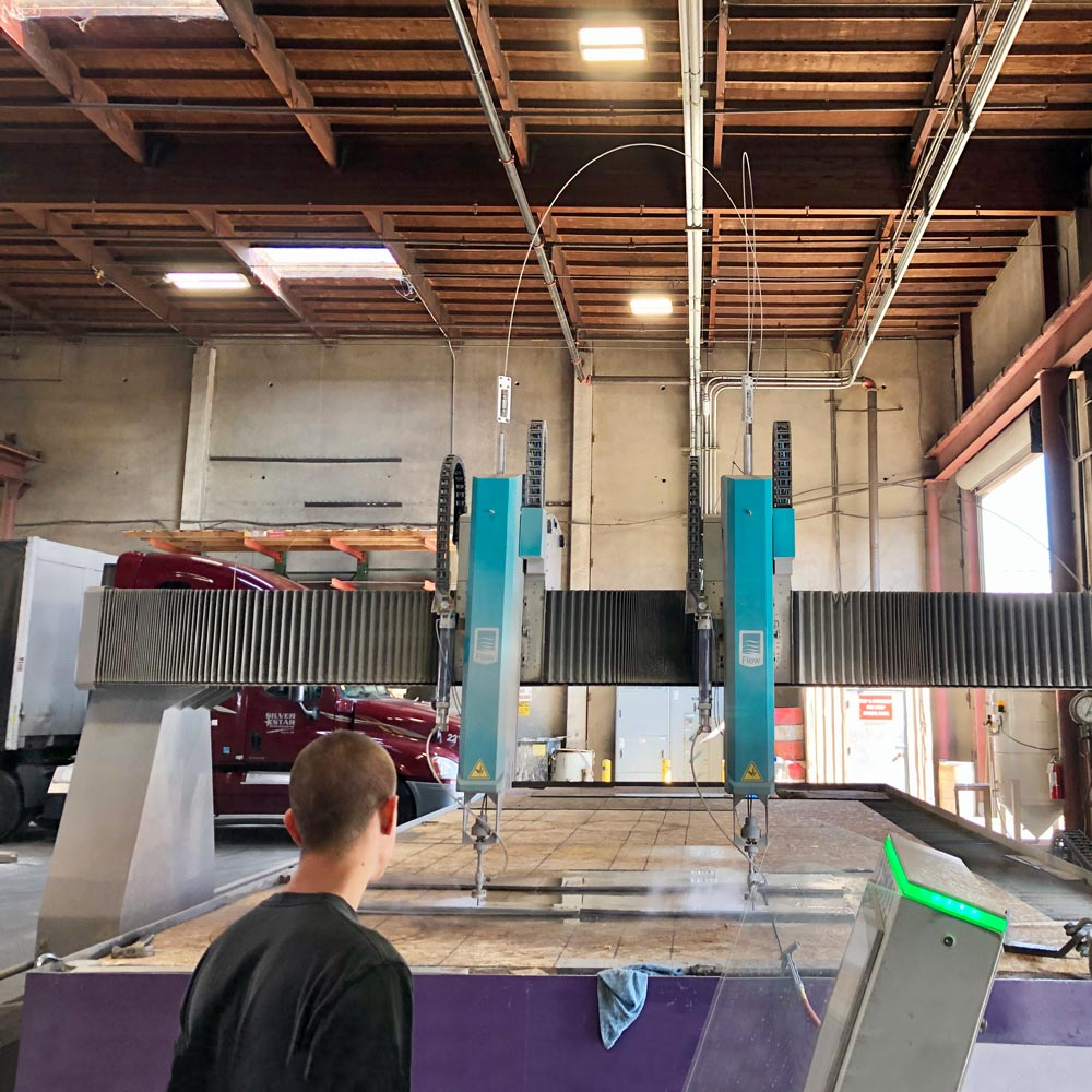 Flow Mach 700 Waterjet: 13ft X 28ft