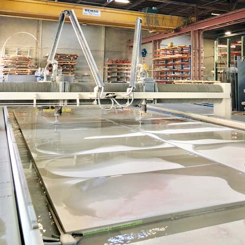 Waterjet cutting large parts with OMAX