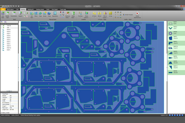 IRC waterjet CAD screen
